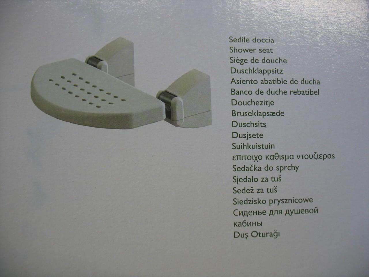 Sedile Doccia Disabili Ribaltabile : Sedile doccia ribaltabile da muro disabili anziani cm