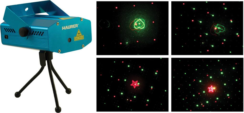 Proiettore Luci Laser Natalizie.Proiettore Laser A Led Maurer Per Interni 4 Giochi Di Luce Luci