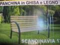 PANCHINE ACCIAIO/LEGNO  SCANDINAVIA 12 120X62X82H