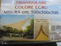 TENDE DA SOLE A TRIANGOLARE CM 500X500X500